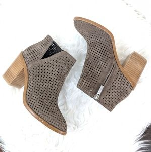 1. State   Larocka Perforated Suede Ankle Bootie